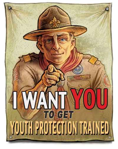 I want YOU to get Youth Protection Trained poster