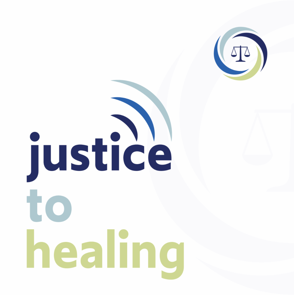 NDCRC Justice to Healing Podcast Cover Art