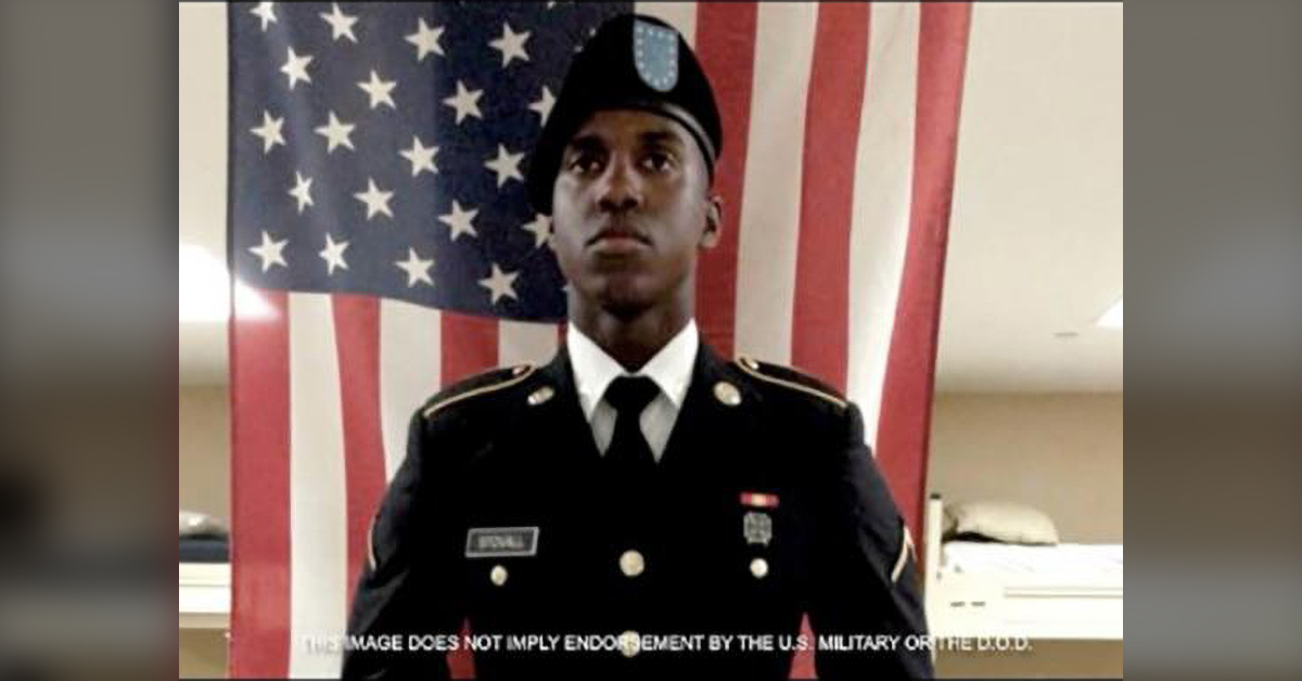 Stovall campaign ad with photo of Stovall in uniform