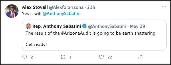 Screen shot of above described tweet