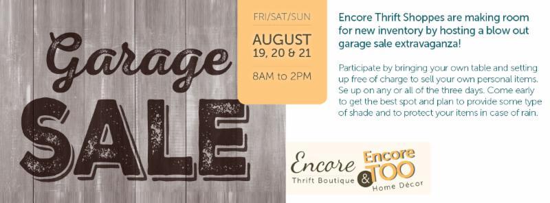 Encore Garage Sale