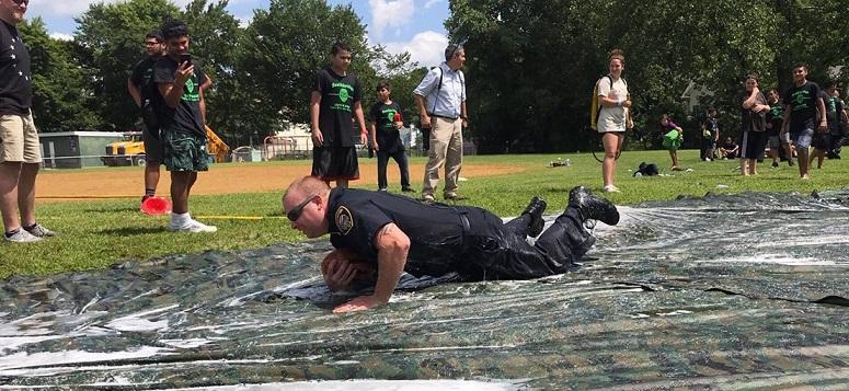 Officer Dodge slides