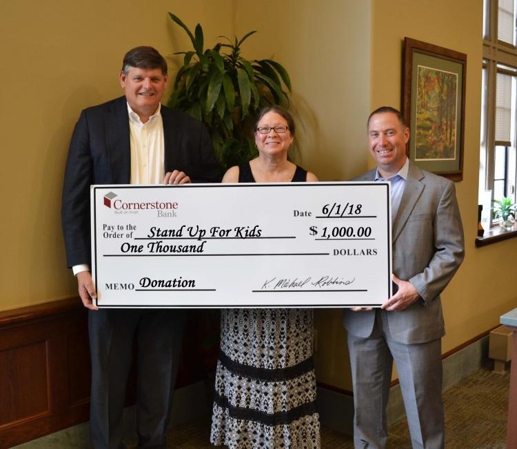 Cornerstone Bank Donates