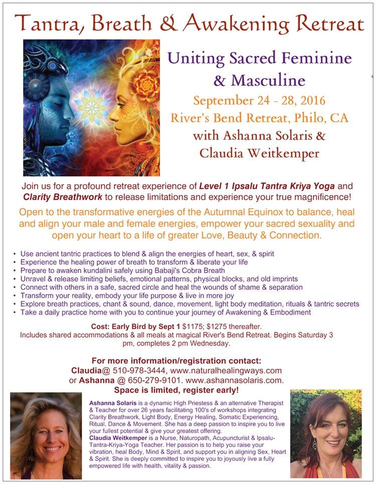Equinox Tantra, Breath & Awakening Retreat & Training