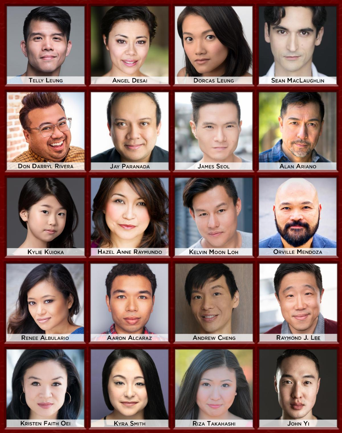 """Cast of the 2020 Developmental lab of """"The Remarkable Journey to Tianguo"""""""