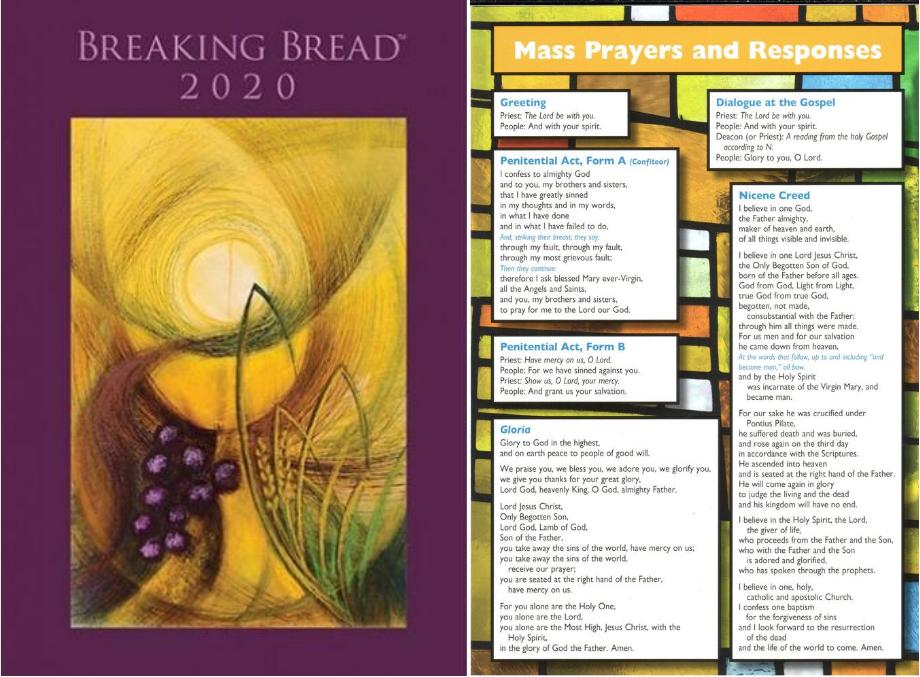 Breaking Bread & Mass Prayers