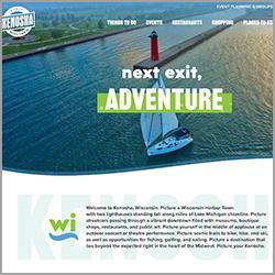 VisitKenosha.com homepage