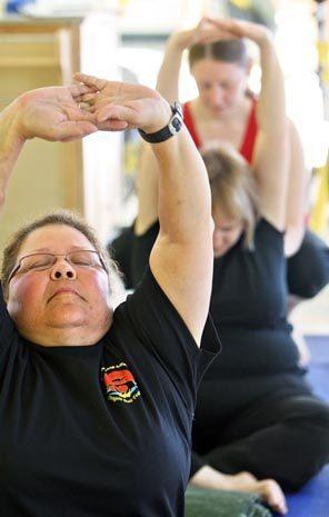 Cancer survivor exercising