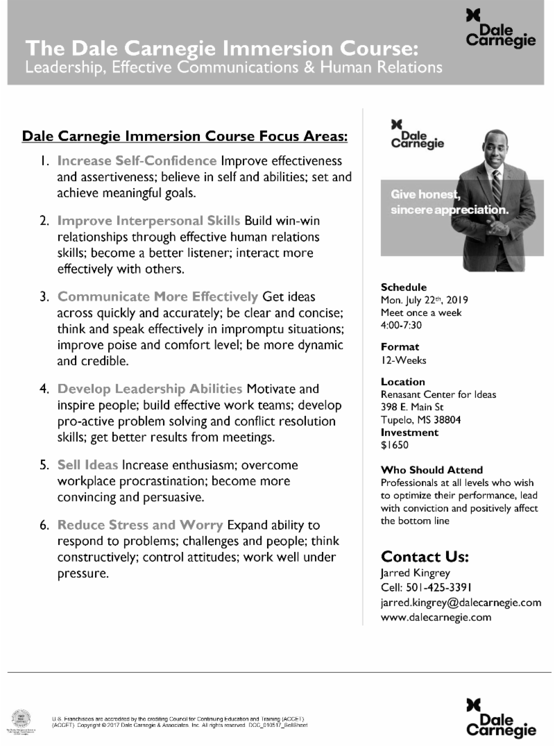 Dale Carnegie Immersion Course