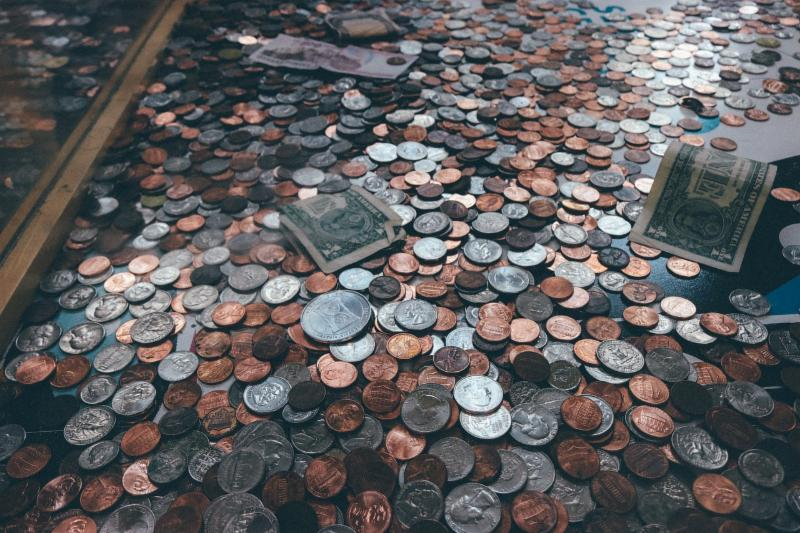 Photo of coins on a table