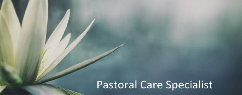 Pastoral Care Specialist Graphic with water lily