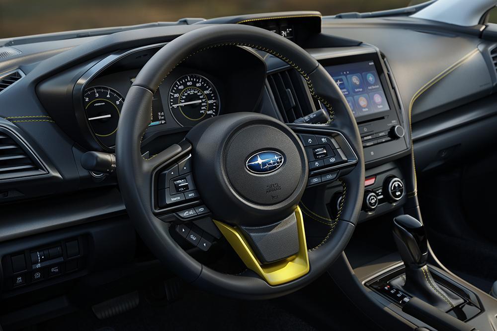 Interior of a new 2021 Crosstrek Sport model