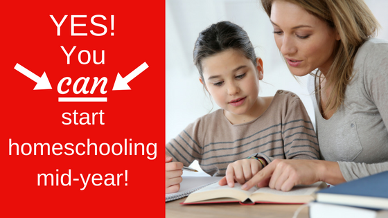 Yes! You can start homeschooling mid-year!