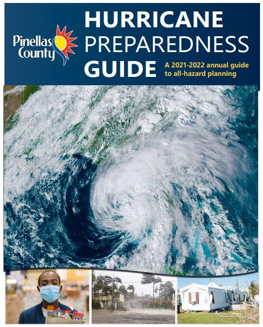 Pinellas County Hurricane Preparedness Guide. Picture of hurricane.