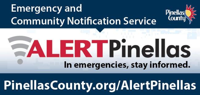 Pinellas County Emergency Community Notification Service ALERT Pinellas