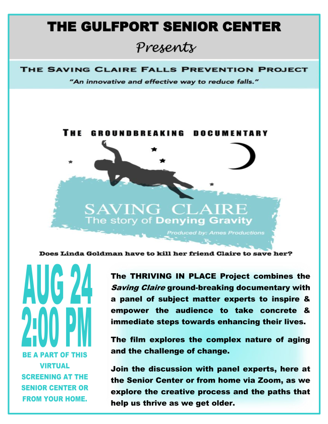 Saving Claire flyer