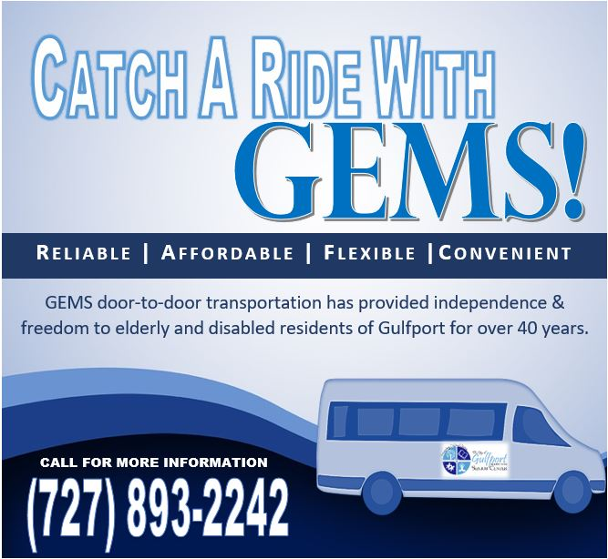 Gulfport Senior Center Catch a Ride with GEMS.