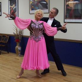 Carol Baker and Paul dancing