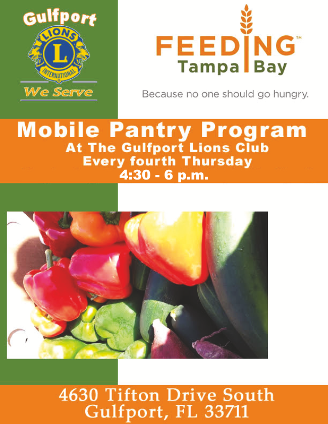 Feeding Tampa Bay flyer. Picture of produce.