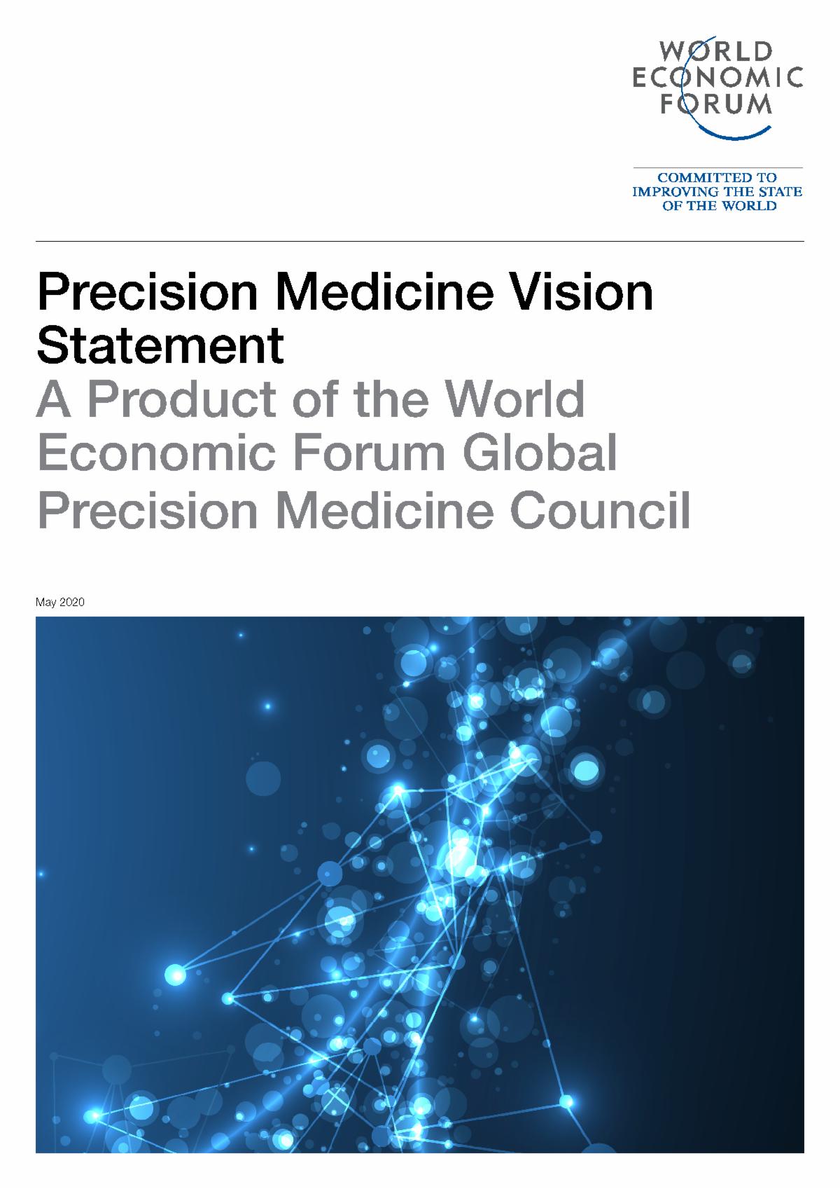 Cover of WEF Precision Medicine Vision Statement