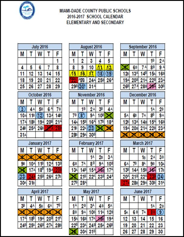 Mdcps Calendar 2016 2020 Everything You Need to Know Right Now  PTSA Newsletter Sept.8, 2016