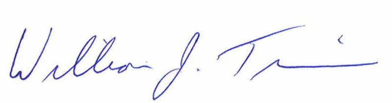 Bill Tennis' signature