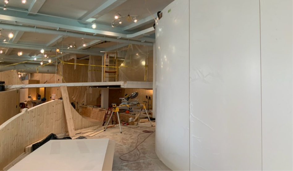 image of construction at the Museum site