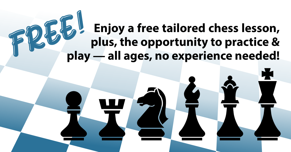 [The Silver Knights invite you to learn about and play chess for free!]