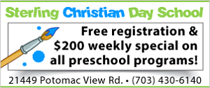 DullesMoms.com Newsletter Sponsor: Sterling Christian Day School