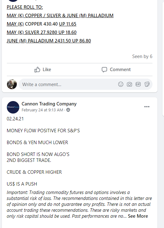 Real Time Trading Updates