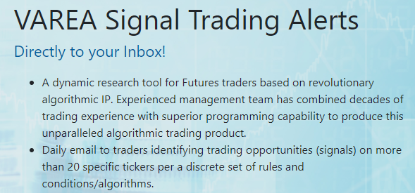 Trading Signals for commodities