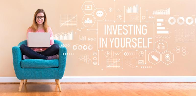 Investing in Yourself graphic