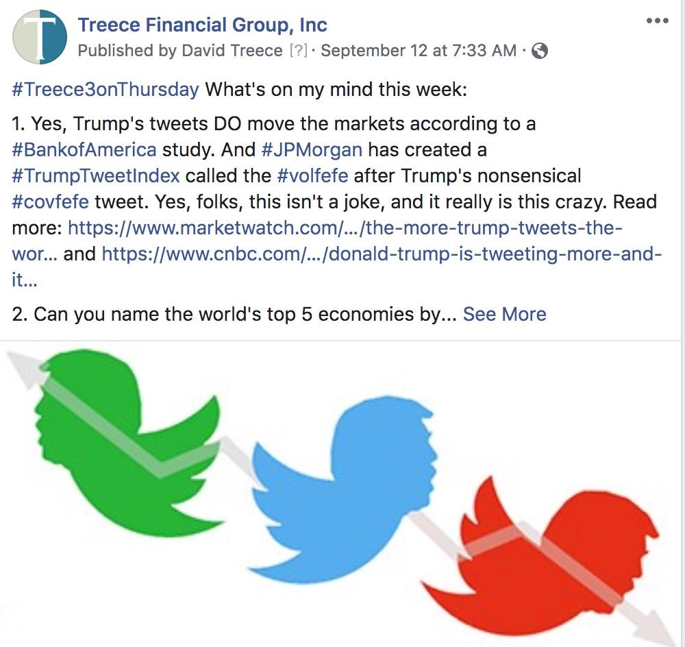Treece's #3onThursday: September 12, 2019