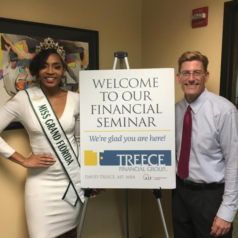 Miss Grand Florida and David Treece