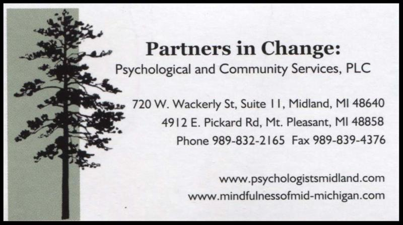 business card for Partners in Change
