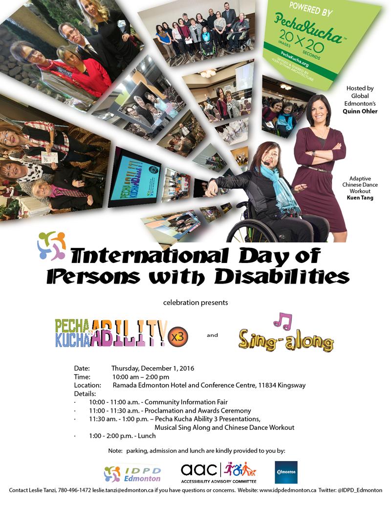 Invitation to IDPD 2016
