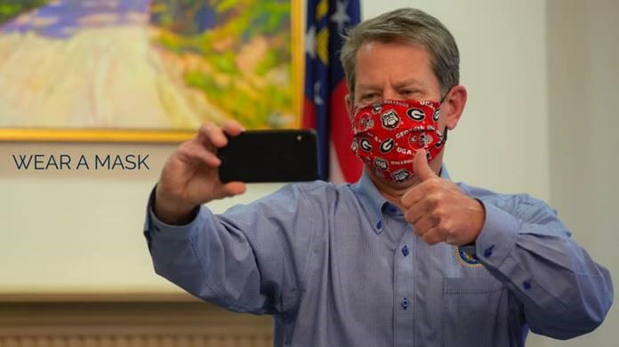Gov. Kemp Wearing a Mask