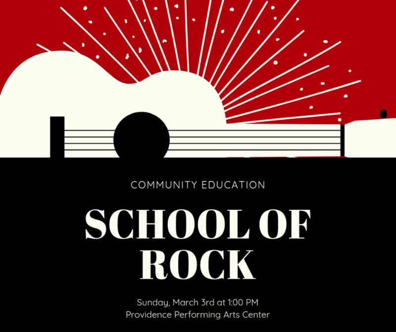 Community Education School of Rock