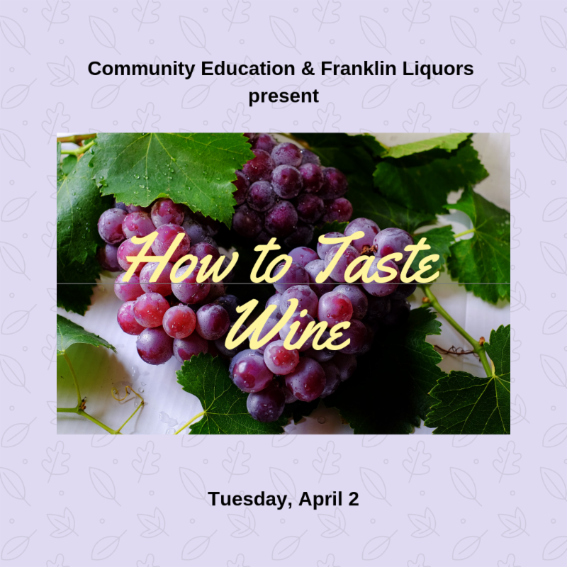 Medway Community Education - How to Taste Wine Class