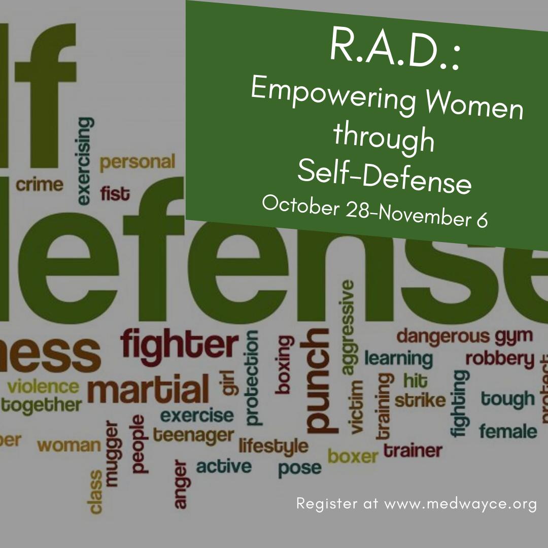 Community Education-R.A.D. Empowering Women through self-defense