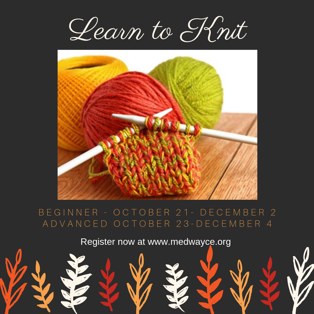 Medway Public Library-knitting class