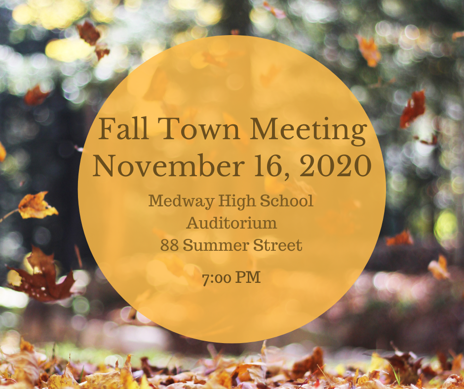 Fall Town Meeting