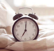 Picture of clock for sleep article