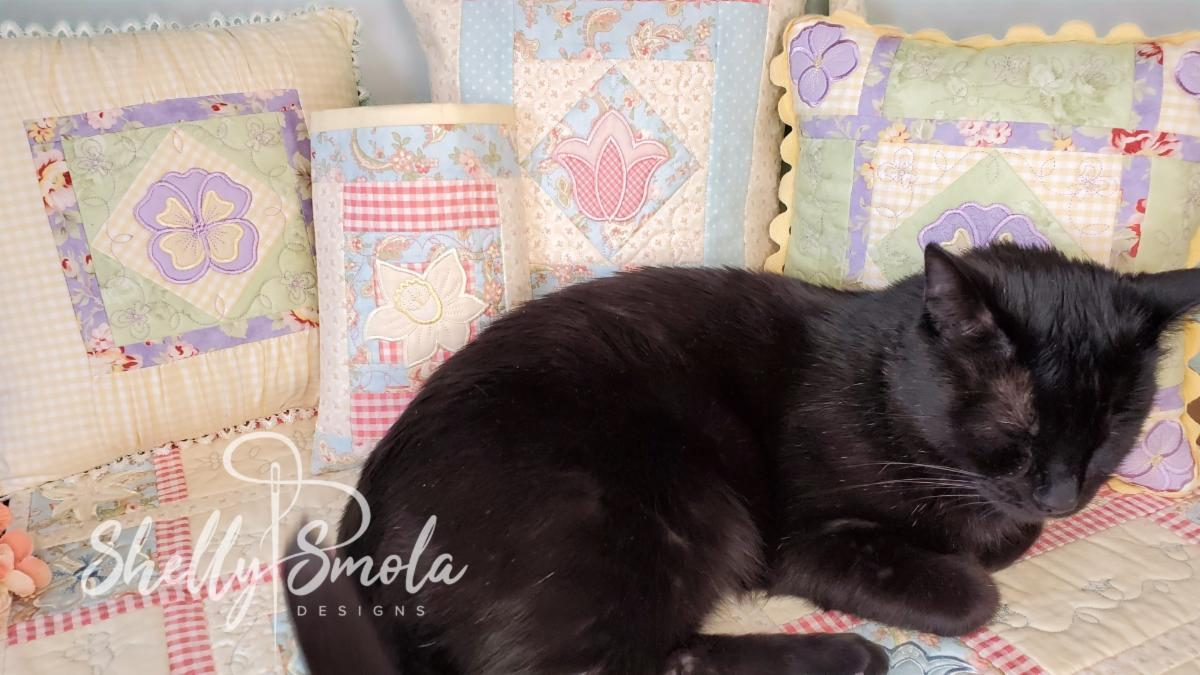 Spooky and the Spring Quilt by Shelly Smola