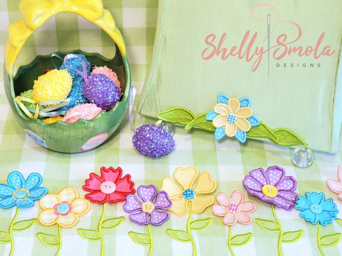 Flower Stem Border by Shelly Smola