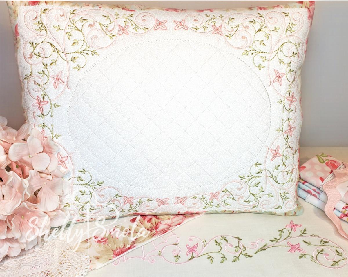 Victorian Trellis Pillow by Shelly Smola