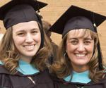 Graduate students celebrate their graduation