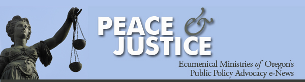 Peace & Justice news banner