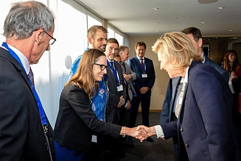 Courtenay meeting Princess Astrid