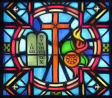 Cross and commandments